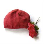 Three beanies hand knitted hat winter beanies grey raspberry truffle