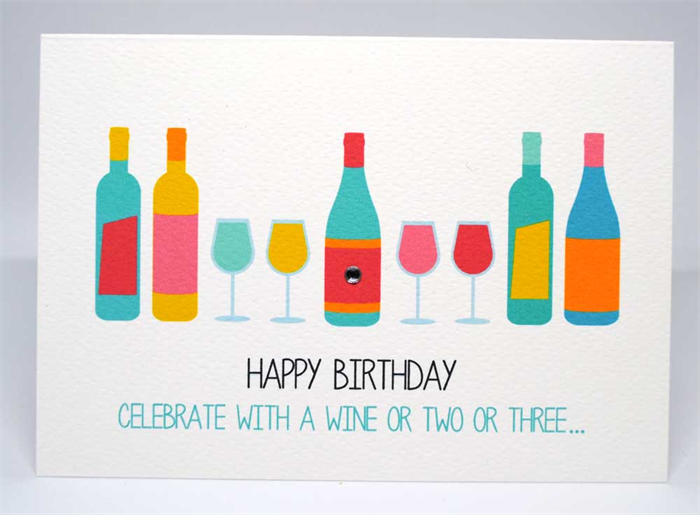 Birthday Card Female Wine Bottles And Glasses Hbf157 Mum And