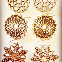 Mandala earings (choice of 3 styles)
