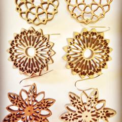 Mandala earings (choice of 3 styles)