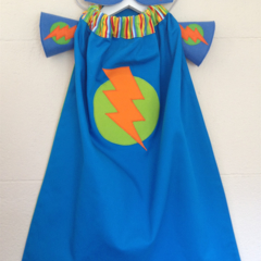 ~ Boys Standard Superhero Set ~ MADE TO ORDER ~ Cape, Mask & Cuffs ~