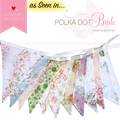 Vintage Bunting - Retro Pink MULTI Floral Flags. High Tea Party, Home Decoration