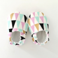 Geo Pastel & Gold Soft Sole Baby Shoe