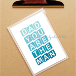 dad you are the man Father's day card