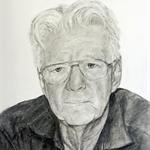 Custom charcoal portrait - person or pet.