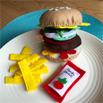 burger and chips felt play food