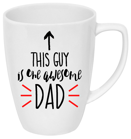 Father's Day drink bottle/coffee mug decal | This guy is one Awesome Dad