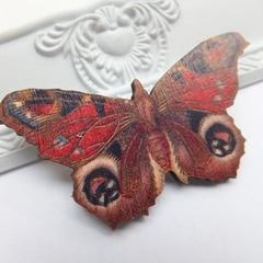 SALE Butterfly Wooden Brooch