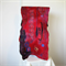 Felted Scarf Wrap Shawl Unique Winter Scarf Art Silk Red