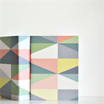 🔴MID Notebook Pocket Journal Pastel Harlequin Gift under 5