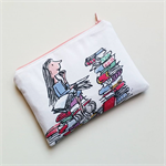 Matilda Roald Dahl inspired reading literature purse clutch