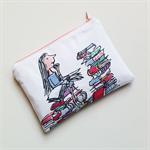 Matilda Roald Dahl inspired reading literature purse clutch