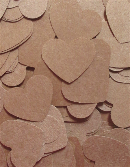 Brown Paper Heart Table Scatters (300 Hearts)