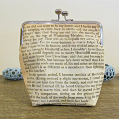 Wuthering Heights Purse Clutch Bag Quote Whatever Our Souls Are Made Of