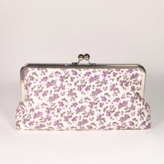Field in purple large clutch purse