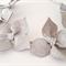 Gray Silver  Leather Crown, Headband, Leather Wedding Fascinator