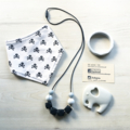 Mum + Bub Gift Pack (silicone necklace, bib, silicone teether, silicone bangle)