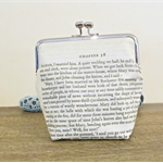 Jane Eyre Purse Clutch Bag Quote Reader I Married Him Bronte Bridal Wedding