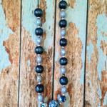 Royal blue , light blue necklace. Handmade