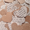 Brown and Book Page Paper Heart Table Scatters (300 Hearts)