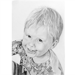 Children's Portraits - A4 graphite - single head and shoulders