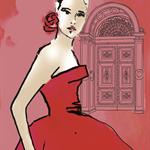 Fashion illustration Prints, wall art, home décor. Isabella