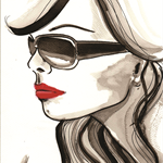 Christy Fashion illustration Prints, wall art, home décor.