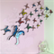 Kaleidoscope of Butterfly's, New Original Design, 3D , 21 pieces, Hand painted