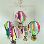 New Brighter, 5 Hot Air Balloons Mobile , Ceiling or Wall mounted included
