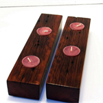 Wood Tea light Holder (pair) #art0100
