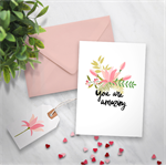 Printable Card with Gift Tags and Belly Band Wrapping Paper included - Magnolia