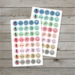 84 Hair and Beauty planner stickers / planner icon stickers