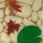 3D Clear Pond Leaves