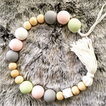 Bead Garland Pretty pastels