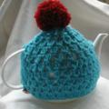 Pom pom Crocheted Tea Cosy