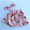 Size 3 - Pretty Pink Floral Girl high waisted skirt with headband