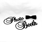 Photo Booth Black Glitter Photo Prop for Weddings, Events, Engagement, Birthdays
