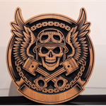 Small Man Cave wall shield