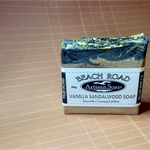 PALM FREE Vanilla Sandal Cold Process Soap with Activated Charocal UNISEX