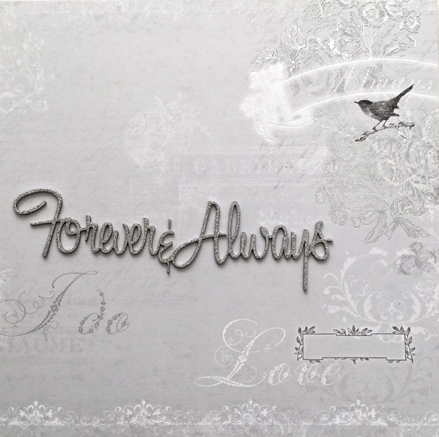 Forever Always Love Words For Wedding Engagement 25th Silver