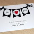 Personalised Wedding card Mr & Mrs / Mr & Mr / Mrs & Mrs