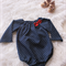 Size 1 Soft Denim Romper with Long Sleeves