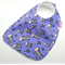 Baby Dribble Bib Zebras on Cotton Fabric, Bamboo Toweling, Snap Fastened.