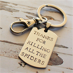 Novelty Fathers Day Keyring - Gift for Dad -  Hand Stamped Personalised Keyring