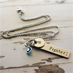 Semi Colon Necklace - Inspirational Jewellery, Stamped Personalised stainless