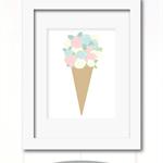 Floral Ice Cream