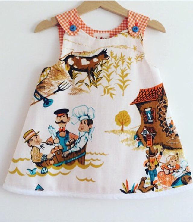 S Baby Toddler Dress Vintage
