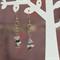 Long chain style chip stone dangle earrings (Type 4)