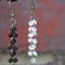 Long chain style seed beads dangle earrings (White, Black)