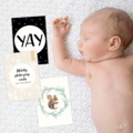 26 Baby Photo Prop Cards. A6 Mini Prints. Flatlay Cards. Milestone cards.